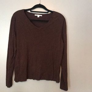 Carolyn Taylor chocolate brown v-neck sweater